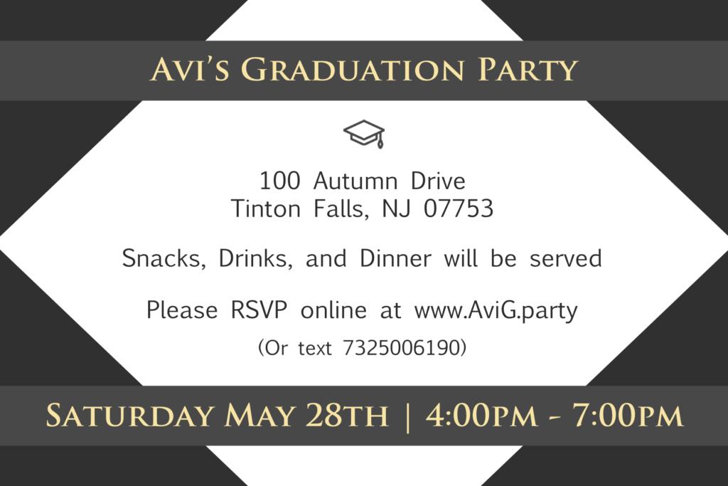 graduation invitation 4x6